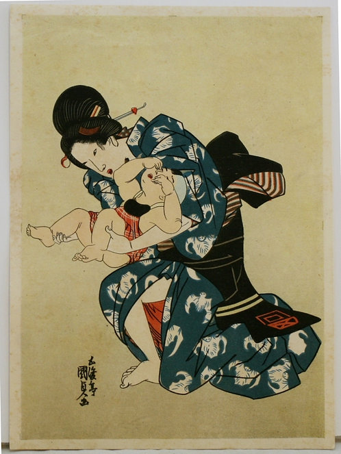 Tomioka Eisen (1868-1912) 'Mother and Child'