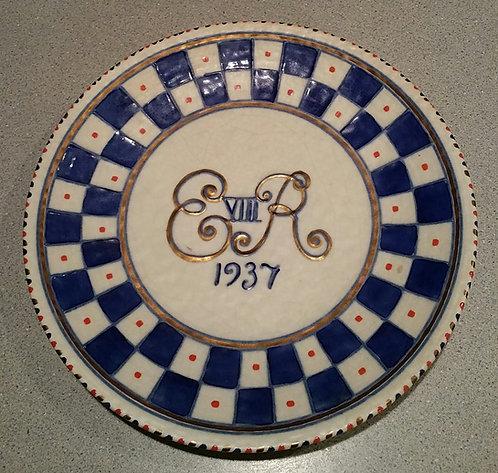 Crown Ducal Plate d1937 Edward VIII Coronation by Charlotte Rhead
