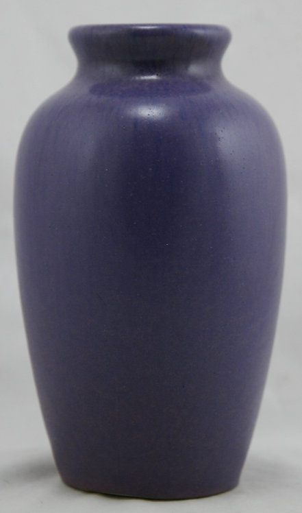 "Fulper 7.5"" Vase In Rich Purple/Blue Matte Glazes Original Condition"