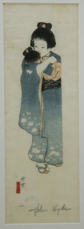 Helen Hyde (1868-1919) Lima, NY 'O Tsuyu San' or 'Honorable Miss Morning Dew'