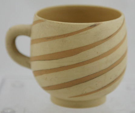 Occupied Japan Swirl-Decorated Pottery Cup c1945-1951