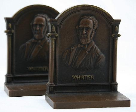 Bradley & Hubbard 'Whittier' Bronze Bookends 1920
