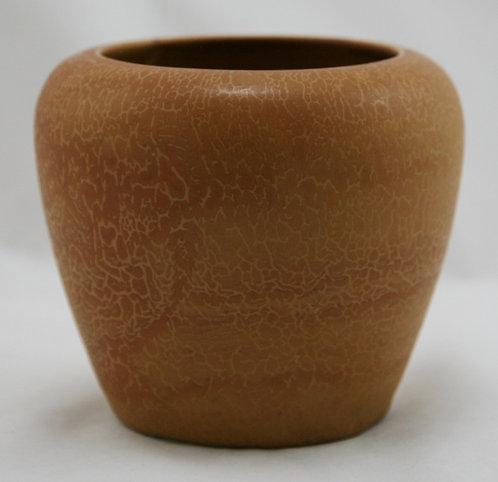 "Hampshire 4.75"" Vase In Feathered/Veined Matt Burnt Orange Glaze Mint"