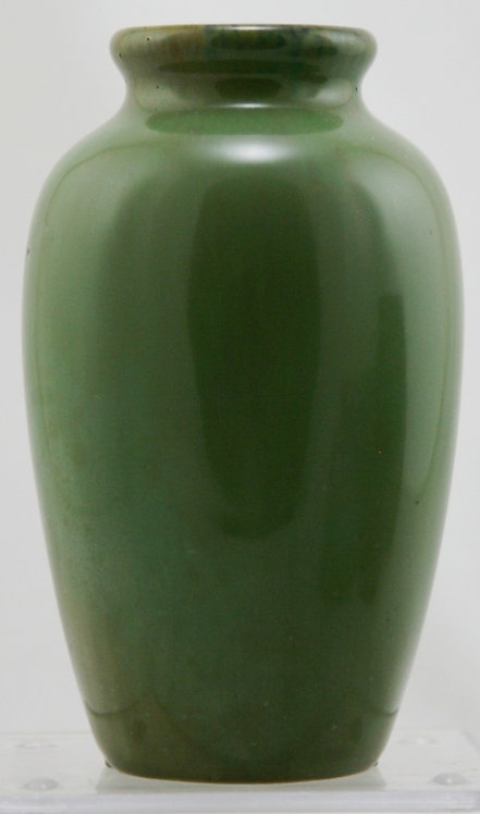 "Fulper 6"" Vase In Green Glossy Glaze Original Condition F348"