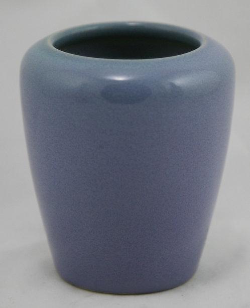 """University of North Dakota UND 4"""" Vase Julia Mattson in Lavender Blue Glaze 1922"""