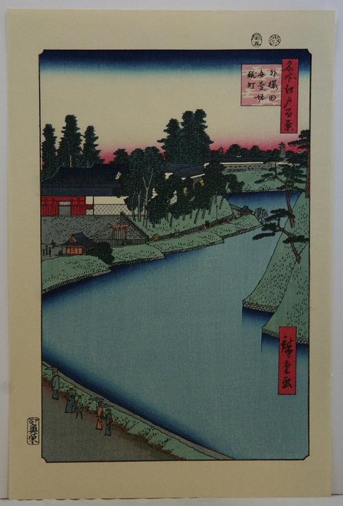 Utagawa Hiroshige (1797-1858) 'Benkei Moat from Soto-Sakurada to Kôjimachi'