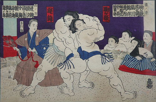 Utagawa Kunisada (1786-1865)   Sumo Wrestlers' Match