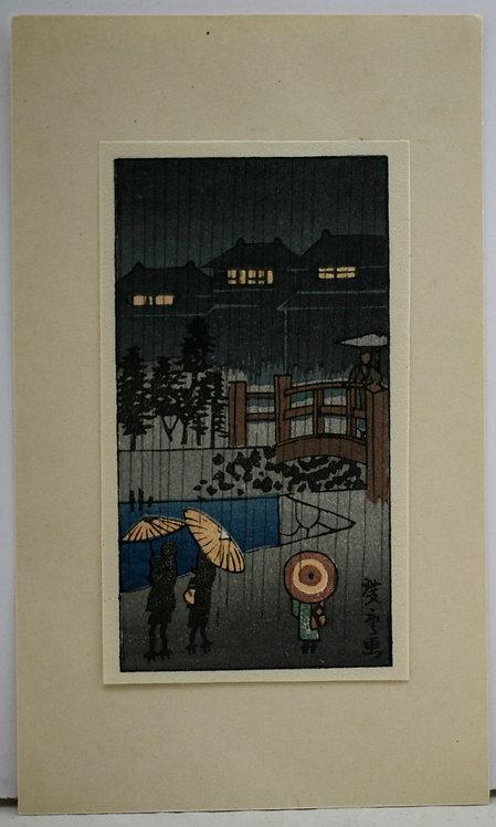 Utagawa Hiroshige (1797-1858) 'Night Rain'