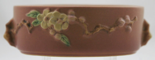 "Roseville Apple Blossom 2.25"" x 7"" Fern Dish #326-6 In Luscious Pink Glazes Mint"