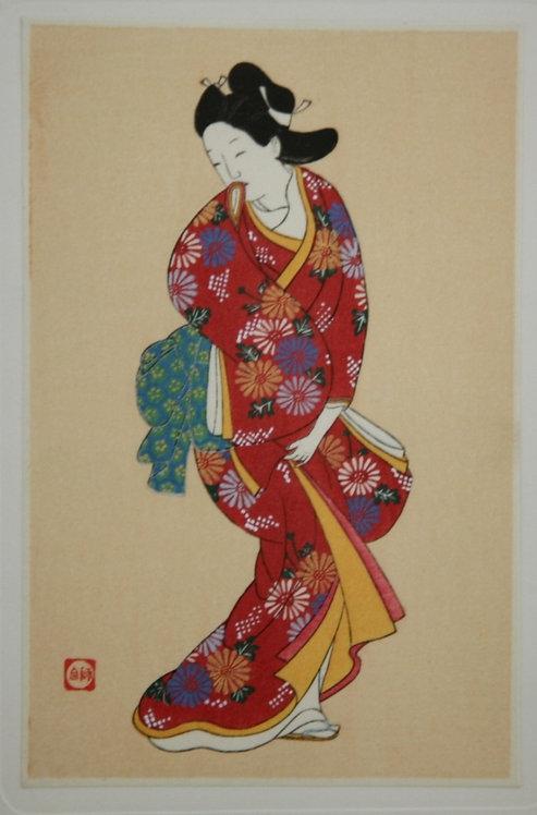 After Nishikawa Sukenobu (1671-1751) Actor from a Noh Play
