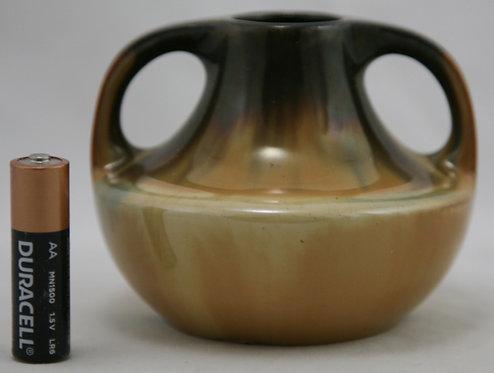 Fulper Miniature Cabinet Vase In Rich Yellow Flambe Glazes c1917-1934