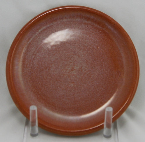 "$OLD! TY! Catalina Island Pottery 6"" Plate In Monterey Brown Glazes"