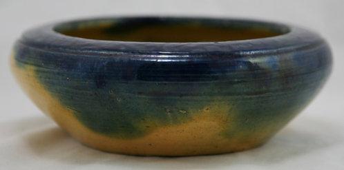 Charlie Auman North Carolina c1922-1937 Bulb Bowl Mitchfield Clay Cobalt Glaze