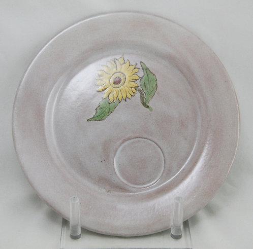 Paul Revere Pottery/S.E.G. Plate w/Sunflower Blossom