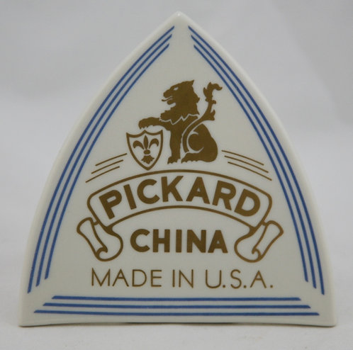 Pickard China Porcelain Authorized Dealer Sign in Gold/Blue Piped Trim