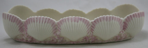 Irish Belleek Neptune Dish Pink Tint 1st Period Mark 1863-1891 Original Cond.