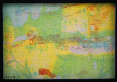 $OLD! C. George Speck (1928-2018)  Charlottesville, VA Abstract Landscape