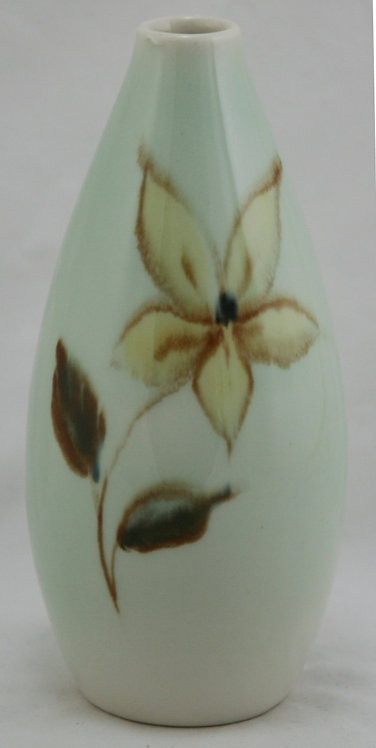 Francis Joseph Von Tury Porcelain Vase W/Star Flower Binns' Medalist c1940s Mint