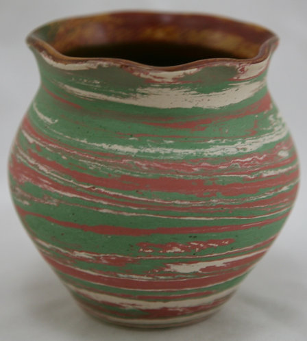 Silver Spring Swirl Pottery Vase by Henry A. Graack Jr. c1950s-1960s