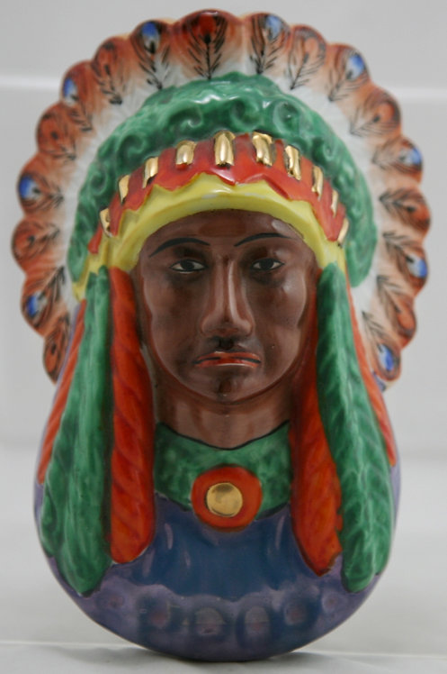 Native American Indian Chief in Full Headress Wallpocket MIJ