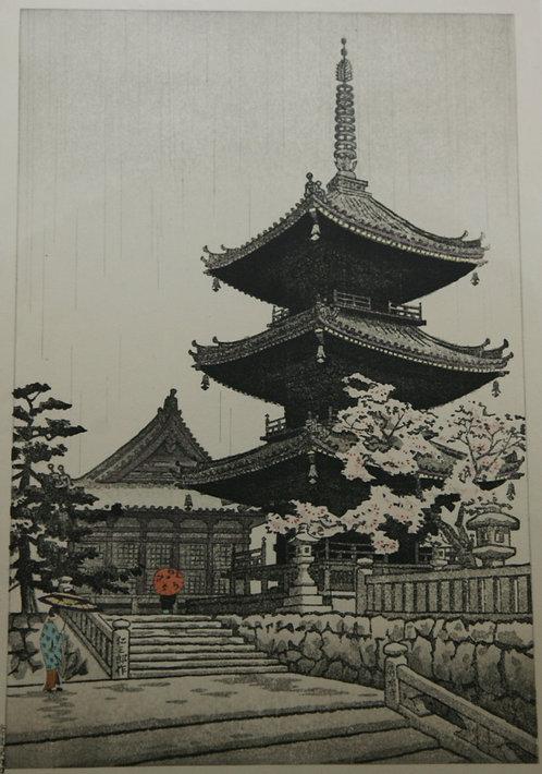 Nisaburo Ito (1910-1988) 'Kiyomizu Temple in Kyoto'