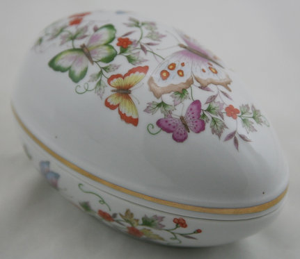 Avon Products Butterflies and Blossoms Egg Trinket Box