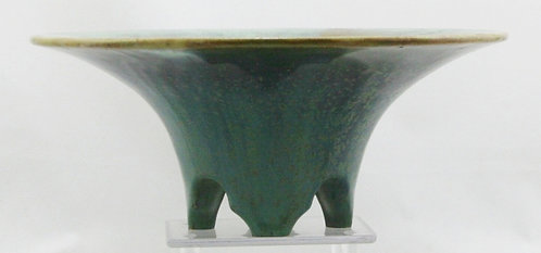$OLD! Fulper Footed Bowl c1917-34 Crystalline Spotted Glazes Mint