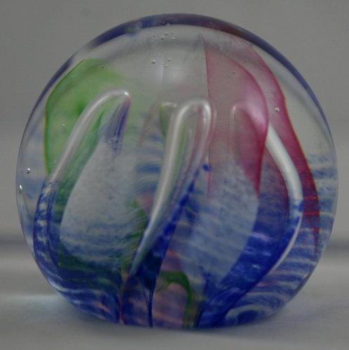 Caithness Scotland Glass Paperweight 'Fiesta' Mint