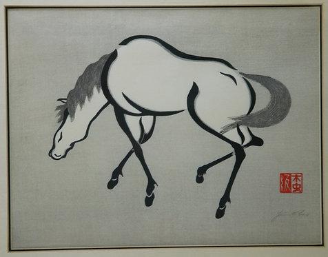 Yoshijiro Urushibara A.K.A. Urushibara Mokuchu (1888-1953) 'Horse 2' or 'Horse B
