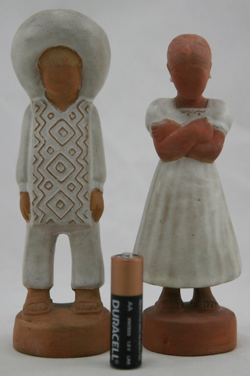 Canchon Pottery Mayan Figural Children in their Sunday Best