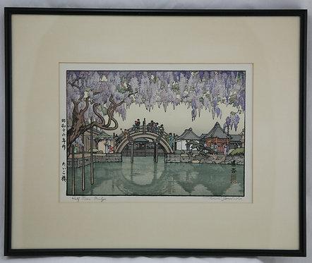 $OLD! TY ! Toshi Yoshida (1911-1995) 'Half Moon Bridge'