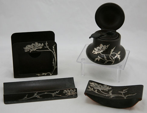 Heintz Metalcrafters Desk Accessories Sterling 'Poppy Blossom'  Design c1910