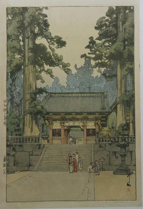 Hiroshi Yoshida (1876-1950)  'Toshogu Shrine'