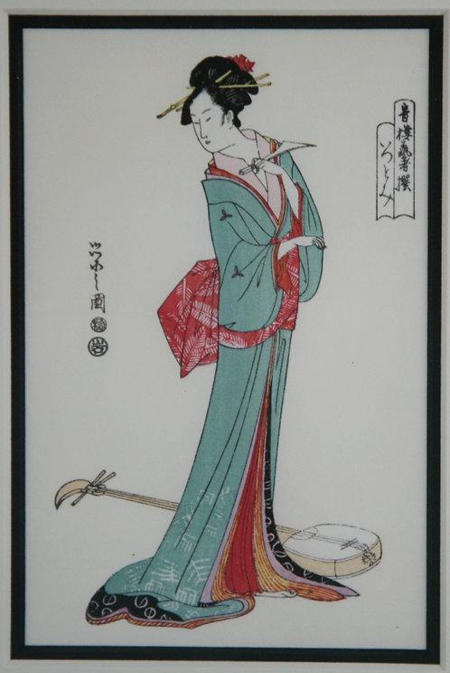 Eishi Hosada (1756-1829) 'Beauty Itsutomi' from the Series 'Selected Geisha'