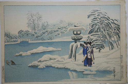 Oda Kazuma (1882-1956) 'Geishas by Lantern'