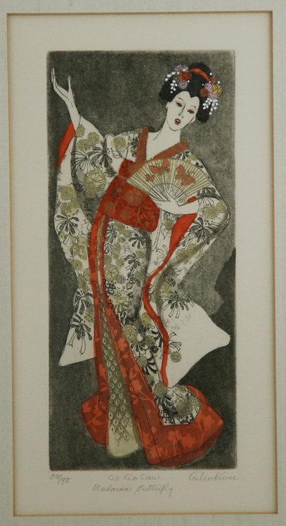 Helen Mae Kunic (1926-2007) American, Paso Robles, CA 'Cio Cio San Mme Butterfly