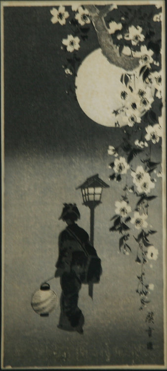 After Takahashi Shôtei (1871-1945) 'Spring Evening, Lady with Lantern'