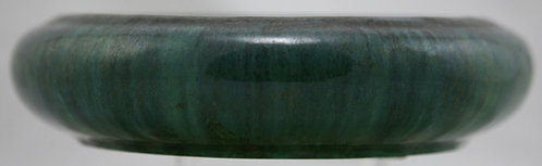 Fulper Bulb Bowl In Rich Green/Blue Drip Glaze Combination F517