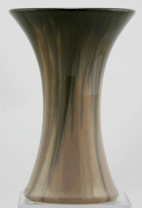 "Fulper 7"" Trumpet 'Fool's Cap' Vase 1909-1916 Cafe Au Lait Flambe Glaze F267"