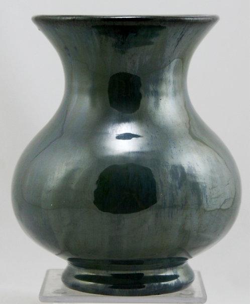 "Fulper 7"" Vase In Blue/Green Flambe Platinum Glazes c1917-1923 Mint F149"