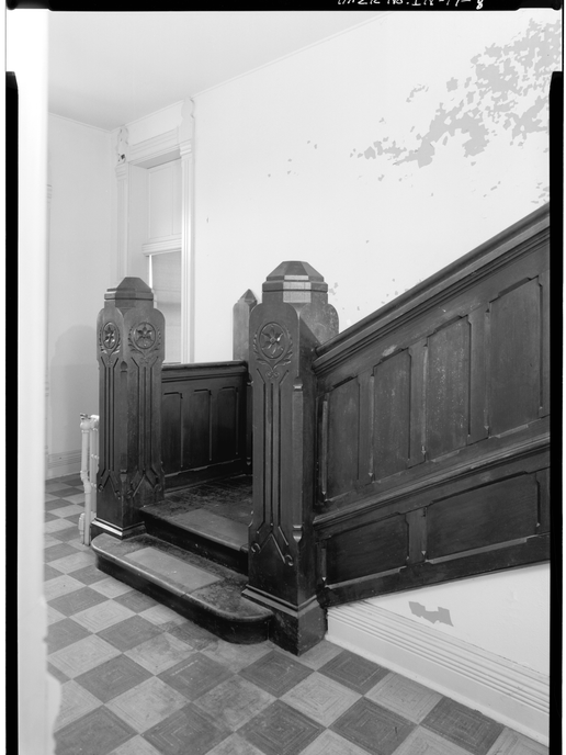 1974 - DETAIL VIEW SHOWING STAIRCASE AND