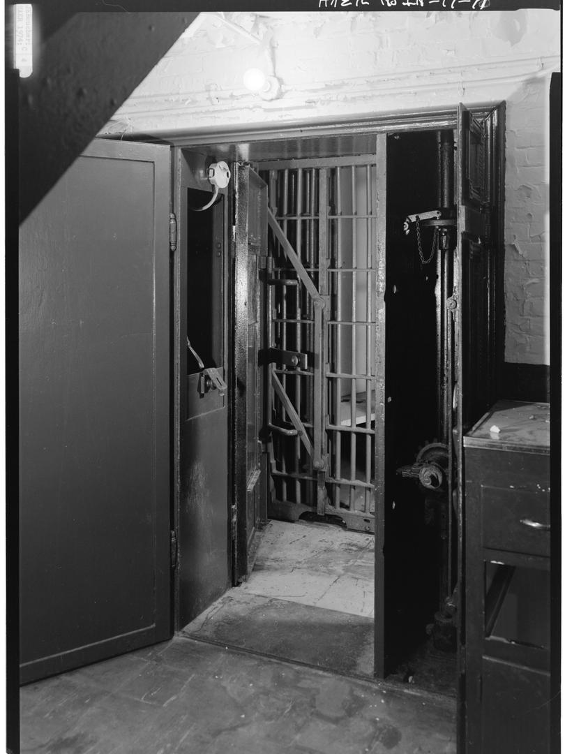 1974 - ENTRANCE DOOR TO CELL BLOCK IN OP