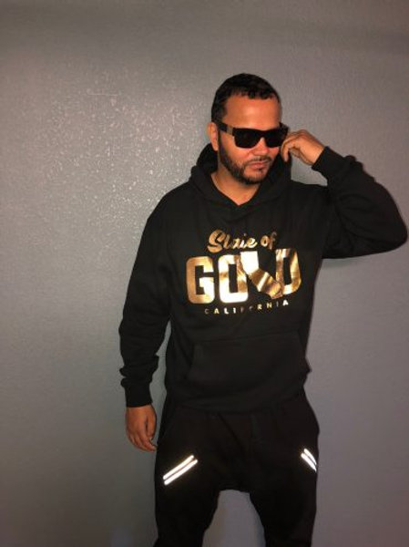 HOODIE WITH GOLD LOGO