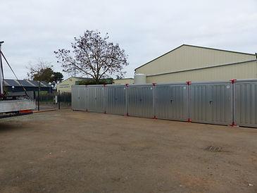 Installation de boxes de stockage sur un site extérieur Le Mans (72)