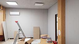 rénovation de tous les murs intérieurs, placage et peinture - FIMAD