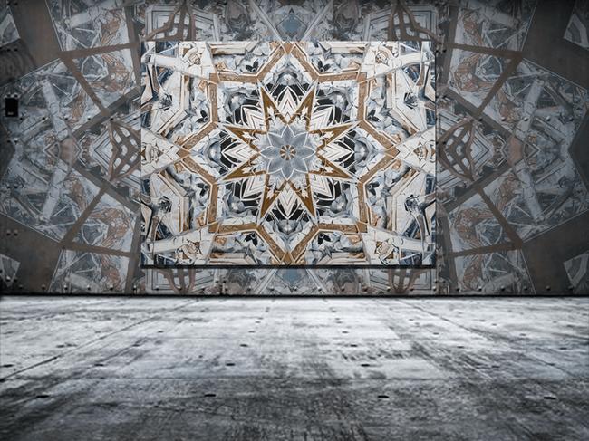 Mandala #30 with wall paper