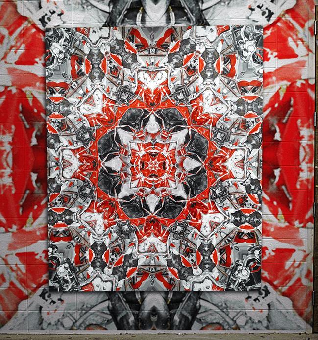 Mandala #32 HL7742 with wallpaper