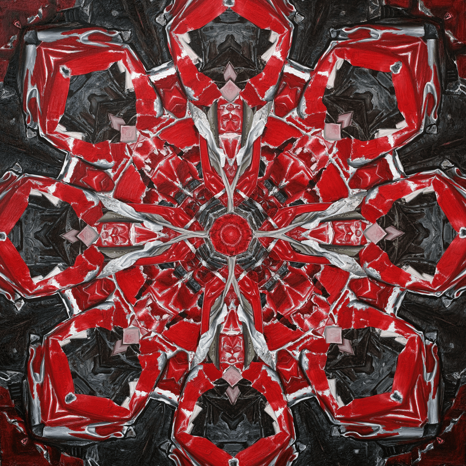 Mandala Red Gragon