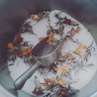 Mixing up batches of my Release Bath.  D