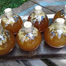 Elder flower and borage herbal honey for